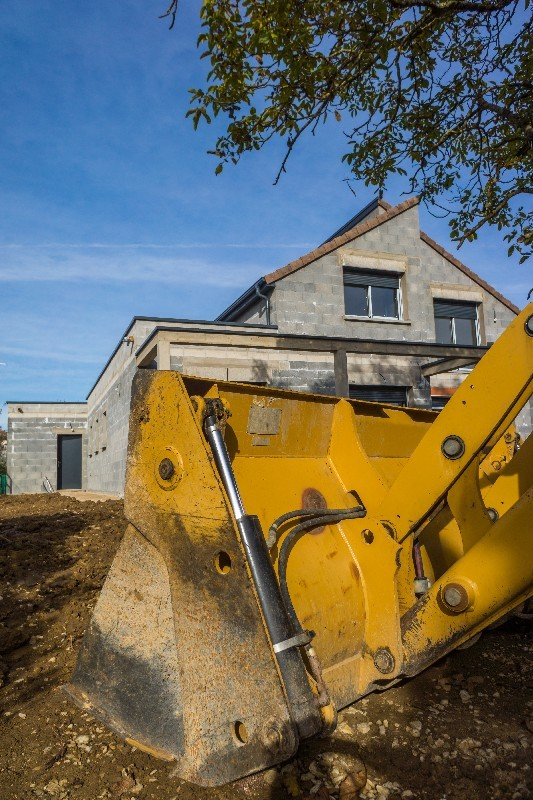 terrassement pour une construction dans l'Hérault | Melia Terrassement